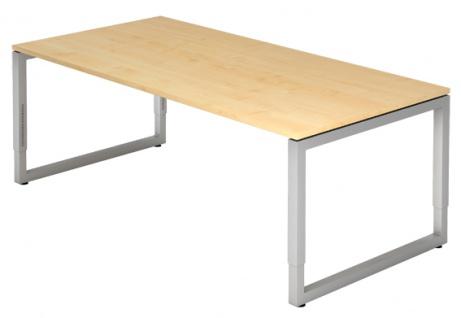 Schreibtisch Hammerbacher R-Serie 200 x 100 cm Ahorn Dekor