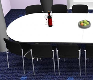 Konferenztisch Pendo Rondo halbrund XXL Auswahl Farbe Optionen