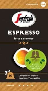 Segafredo Zanetti Espresso 4, Nespresso-kompatibel, kompostierbar, 10 Kaffeekapseln