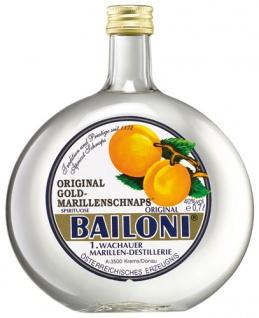 Bailoni Wachauer Gold Marillenschnaps, 40 % Vol.Alk.