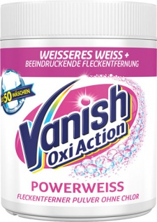 Vanish OxiAction Powerweiss, Fleckentferner-Pulver ohne Chlor