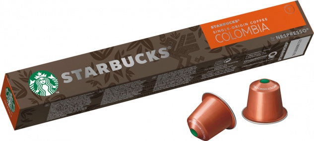 Starbucks Colombia Single-Origin Coffee 7, Nespresso-kompatibel, 10 Kaffeekapseln