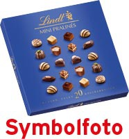 Lindt Mini-Pralinés, 9 Sorten, 20 Stück, Bonbonniere
