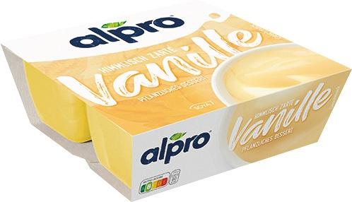 Alpro Pflanzliches Dessert Vanille, 4er Packung