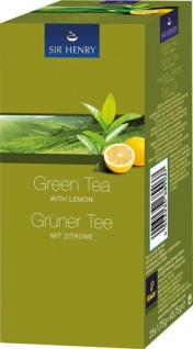 Sir Henry Tchibo Grüner Tee mit Zitrone, Teebeutel im Kuvert, 2. Entnahmefach/displaytauglich