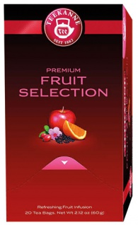 Teekanne Premium Früchte Auslese, Früchtetee, Teebeutel im Kuvert, 2. Entnahmefach/displaytauglich