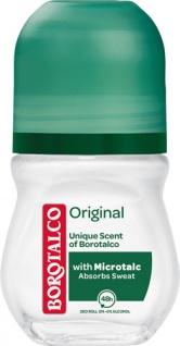 Borotalco Original, 48h Deo Roll-on mit Mikrotalk, 0 % Alkohol, Anti-Transpirant/Anti-Perspirant