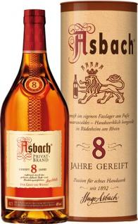 Asbach Privatbrand 8 Jahre, 38 % Vol.Alk., im Geschenkkarton
