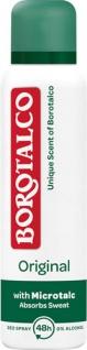 Borotalco Original, 48h Deo Spray mit Mikrotalk, 0 % Alkohol, Anti-Transpirant/Anti-Perspirant