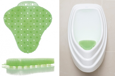 Ekcos Screen Green Apple 60 Tage, L 200 x B 190 mm, Urinalmatte für Pissoirs mit dem Duft nach würz