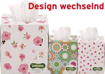 Paloma Kosmetiktücher Exclusive, Würfel-Box, 3-lagig, Design wechselnd
