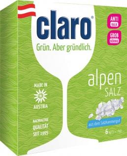Claro ÖKO Alpensalz, Regeneriersalz (anwenderfreundlich unterverpackt in 3 x 2 kg)