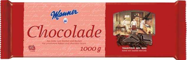 Manner Schokolade zum Kochen & Backen UTZ