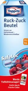 Toppits Gefrierbeutel Ruck-Zuck 1 Liter, wiederverschließbar