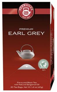 Teekanne Premium Earl Grey, Schwarztee, Teebeutel im Kuvert, 2. Entnahmefach/displaytauglich
