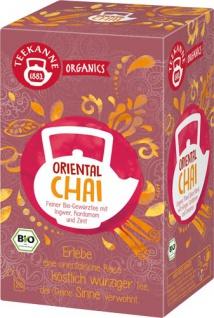 Teekanne Organics Oriental Chai Bio-Gewürztee, Teebeutel im Kuvert