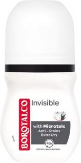 Borotalco Invisible, 48h Deo Roll-on mit Mikrotalk, 0 % Alkohol, Anti-Transpirant/Anti-Perspirant