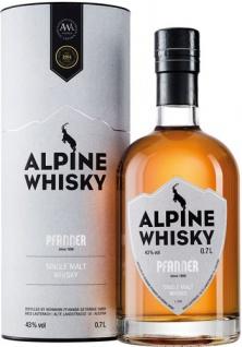 Pfanner Alpine Single Malt Whisky, 43 % Vol.Alk., Österreich, in Geschenkdose
