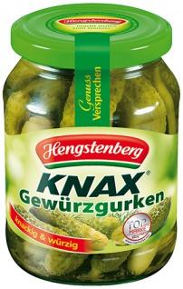 Hengstenberg Knax Gewürzgurken, knackig & würzig