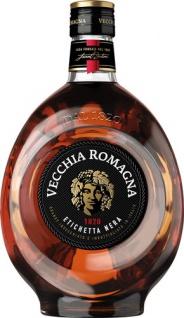 Vecchia Romagna 1820 Etichetta Nera, Italienischer Brandy, 38 % Vol.Alk.