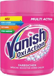 Vanish OxiAction Farbsicher Multi-Action, Wäsche-Booster ohne Chlor, Fleckentferner-Pulver