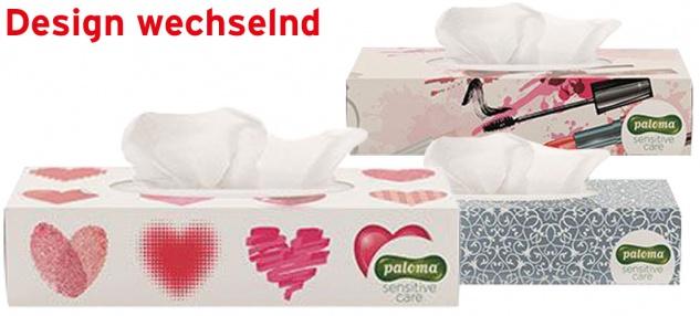 Paloma Kosmetiktücher-Box Classic, 2-lagig, Design wechselnd