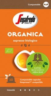 Segafredo Zanetti Organica 3, Bio-Espresso, Nespresso-kompatibel, kompostierbar, 10 Kaffeekapseln