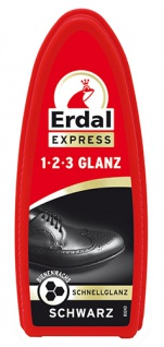 Erdal Express 1-2-3 Glanz Schwarz, mit Bienenwachs