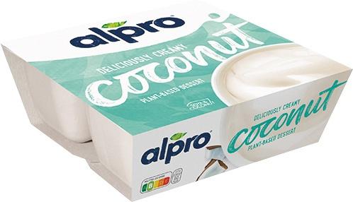 Alpro Pflanzliches Dessert Coconut, 4er Packung