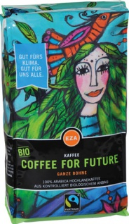 EZA Fairtrade Coffee for Future, Bio-Kaffee, Ganze Bohne