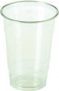 naturesse Becher geeicht 0, 3 Liter, transparent, aus PLA-BIO-PLASTIK