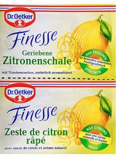 Dr. Oetker Finesse Zitronenschale gerieben