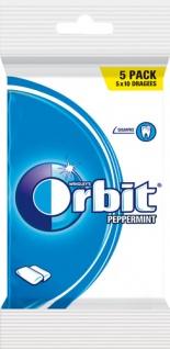 Wrigley's Orbit Peppermint Dragees, zuckerfrei, 5er Packung