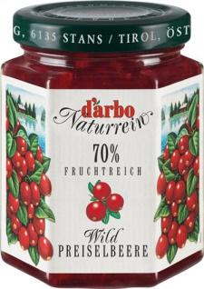Darbo Fruchtreich Wildpreiselbeer-Konfitüre (70 % Frucht)