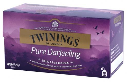 Twinings Pure Darjeeling, Schwarztee, Teebeutel im Kuvert