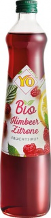 YO Bio Himbeer-Zitrone Sirup, Glasflasche