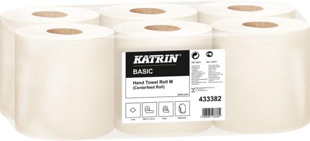 Katrin Basic M300 MIDI Handtuchrolle naturweiss, 1-lagig, Breite 17, 8 cm, Ø aussen 20 cm, 300 m Rol