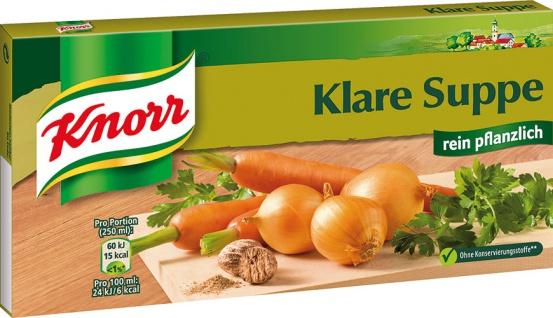 Knorr Klare Suppe, rein pflanzlich, 12 Würfel