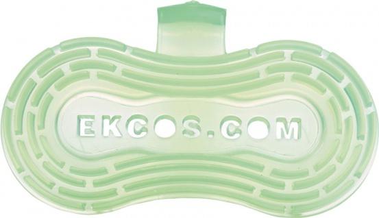 Ekcos EkcoClip Green Apple 30 Tage, L 215 x B 115 mm, Duftclip für Pissoirs und WC-Schüsseln