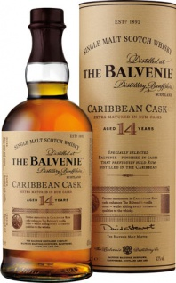 Balvenie Caribbean Cask Single Malt Scotch Whisky 14 Years, 43 % Vol.Alk., Schottland, in Geschenkd