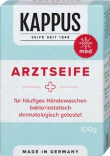 Kappus Arztseife für häufiges Händewaschen, bakteriostatisch