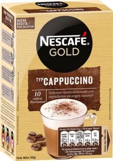 Nescafé Gold Cappuccino Cremig zart, Löskaffee-Sticks, 10 Portionen