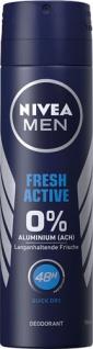 Nivea Men Fresh Active 0 % Aluminium, 48h Deo Spray