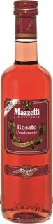 Mazzetti Rosato (Rosé) Condimento Delizioso fruchtig 1 Blatt, Essigspezialität aus Roséwein und Tra