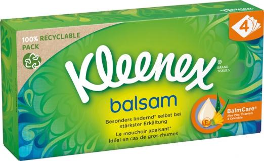 Kleenex Balsam Taschentücher-Box, 4-lagig
