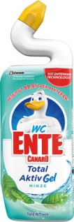 WC-Ente Total Aktiv Gel Minze, WC-Gel gegen Kalk und schlechte Gerüche
