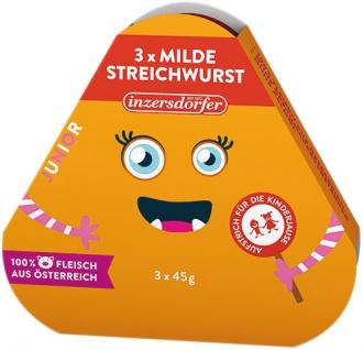 Inzersdorfer Junior Milde Streichwurst, 3 x 45 g
