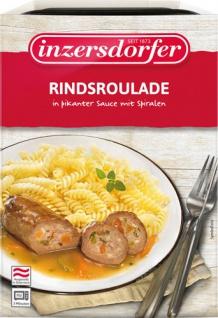 Inzersdorfer Rindsroulade in pikanter Sauce mit Spiralen