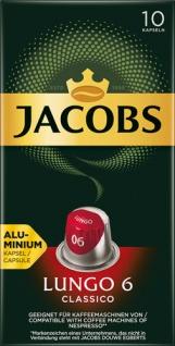 Jacobs Lungo Classico 6, Nespresso-kompatibel, 10 Kaffeekapseln