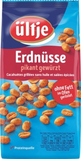 Ültje Erdnüsse pikant gewürzt, ohne Fett im Ofen geröstet